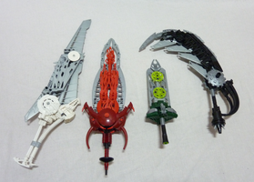 Bionicle Tools - The Elemental swords 4/6 by Alex-Darkrai
