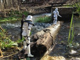 Storm Troopers Crossing Log II by TheLittlestGiant