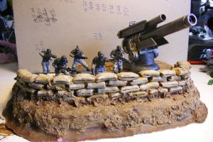 Dust tactics models and Artillery emplacement by Brotherastartes