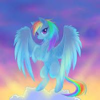 my freind rainbow dash by speedycat454