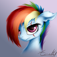 Alternate Future Rainbow Dash (Commission) by AurelleahEverfree