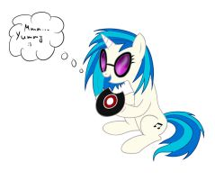 Vinyl Scratch Eat up by Volodaeff