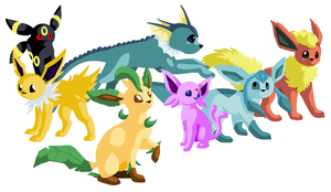 Eeveelutions supreme by Dinaria