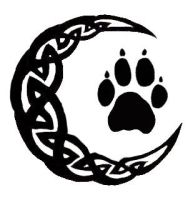 Celtic Moon with Wolf Paw by MorphyVampy