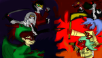 SMASH!! Miis and Anime Style! by thedragonlover95
