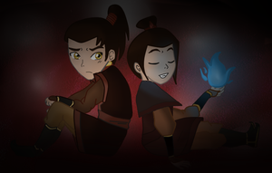 Young Azula and Zuko: Avatar by xLadyKim
