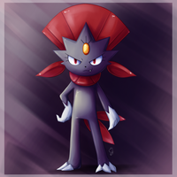 Pokemon Commission Weavile by Exceru-Hensggott