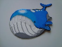 Wailord with Hama beads by KimiMonsterKitty