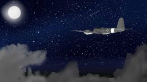 Me 410 at night by Red-Blitzkreig