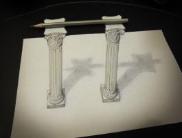 Pencil on columns by AlessandroDIDDI