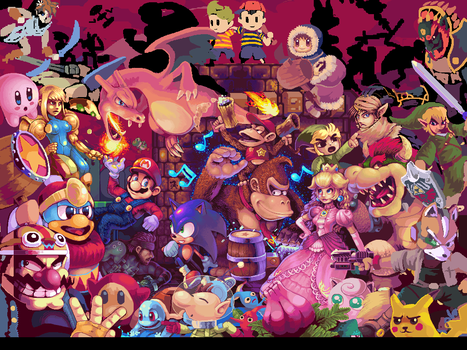 So what ever happened to that old Brawl pixelart? by Neoriceisgood