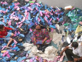A world of coloured shoes by Magdyas
