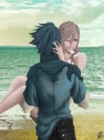 Light and Noctis - Alternate by Terra7