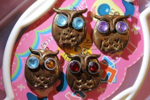 My Own Owl Polymer Clay Creation by bloodyrosemaggot