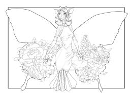 Flowers for Tera :linework: by SketchDrayton