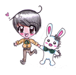 Go Min Nam and Pig-rabbit by forgottenlegend