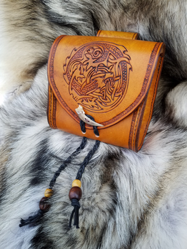 Rust Dragon Pouch by AThousandRasps