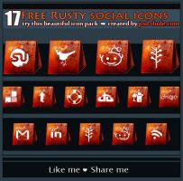 Rusty Banner Social Icons by PsdDude