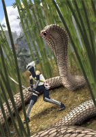 Snake attack by Leifa