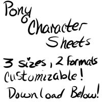 Pony Reference Sheets Blank by DracosDerpyHoof