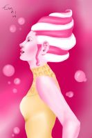 Pink bubble gum ice cream by Evymonster9406