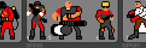 8-bit tf2 characters RED by zorberema