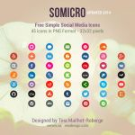 Somicro: 45 Free Social Media Icons by vervex