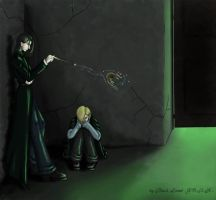 snape, draco and peter by DblckLamb