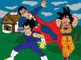 Another day with Goku and Vegeta by laguerrt