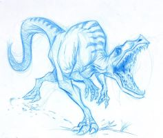 Raptor Sketch by SuperStinkWarrior