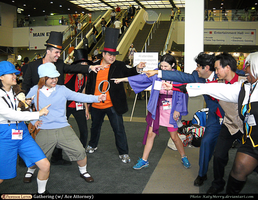AX 2013: Professor Layton VS Ace Attorney by KatyMerry