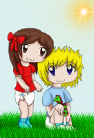 Leonman42 with his girlfriend by Blood-B0xer