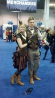 Full Body: Steampunk Couple by GirlOfTheRoses