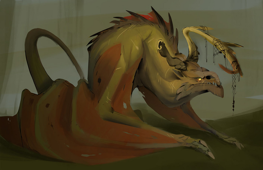 old dragon by isogonica