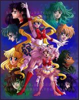 Sailor Soldiers by LeeshMae
