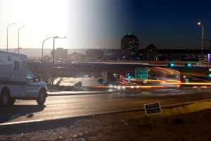 Day-Night Transition, Downtown Albuquerque 1 by RusherVision