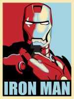 Iron Man 2 Movie Colours (Shepard Fairey inspired) by crhodesdesign