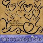Doodled Heart Custom Shapes by debh945