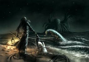 Offering to Cthulhu by aodemir