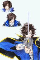 Date Masamune Drawing Practice by PhantomAllice