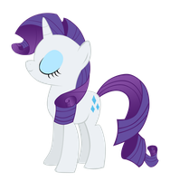 Rarity vector 1 by CommyPink