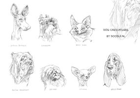 Dog caricatures by ARTOONATOR