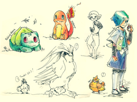 pokemon sketches by Frog-of-Rock