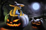Dragon in the pumpkin by lapis-lazuri