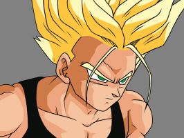 SSj Trunks - Black Singlet by Gatnne