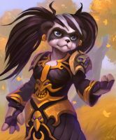Commission: Pandaren Priest by lowly-owly