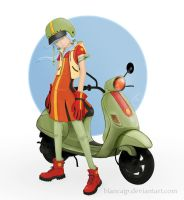 vespa girl by blancaJP