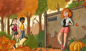 Milo Murphy's Law - Autumn Garden Fanart by Byrpheros