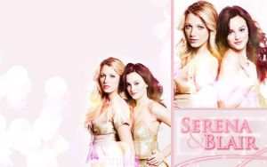 Serena and Blair Wallpaper by ConnieChan