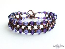 Chainmaille: Purple and Patina by LinaIvelle